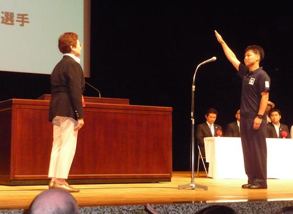 選手宣誓:日本 金子選手