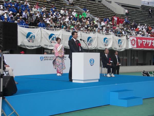 20カ国90チーム整列・泉田知事も駆けつけて歓迎スピーチ